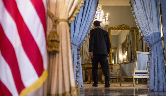 Pedro Pierluisi, sworn in as Puerto Rico's governor last week, exits after speaking at a press conference at the government mansion La Fortaleza in San Juan, Puerto Rico, Tuesday, Aug. 6, 2019. After a sustained protest movement led to the resignation of the previous governor, the island's 3.2 million people now await the final outcome of the constitutional deadlock pitting Puerto Rico's Senate against Pierluisi. (AP Photo/Dennis M. Rivera Pichardo)