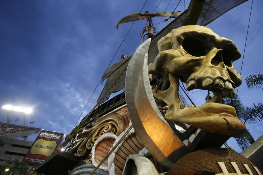 Tampa Bay Buccaneers pirate ship in the fan zone  during a preseason NFL football game against the Miami Dolphins Thursday, Aug. 27, 2009 at Raymond James Stadium in Tampa, Fla. (Associated Press) **FILE**