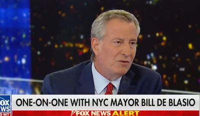 New York City Mayor Bill de Blasio discusses abortion with Fox News' Sean Hannity, Aug. 7, 2019. (Image: Fox News screenshot)