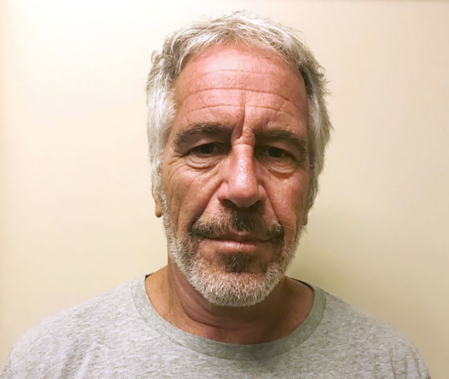 This March 28, 2017, photo, provided by the New York State Sex Offender Registry shows Jeffrey Epstein.  Newly released court documents show that Epstein repeatedly declined to answer questions about sex abuse as part of a lawsuit. A partial transcript of the September 2016 deposition was included in hundreds of pages of documents placed in a public file Friday, Aug. 9, 2019 by a federal appeals court in New York. Epstein pleaded not guilty to 2019 sex trafficking charges. (New York State Sex Offender Registry via AP, File)