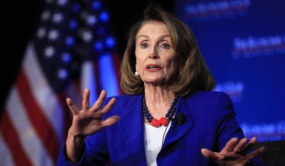 In this Friday, March 8, 2019, file photo, House Speaker Nancy Pelosi of Calif., speaks in Washington. (AP Photo/Manuel Balce Ceneta, File)