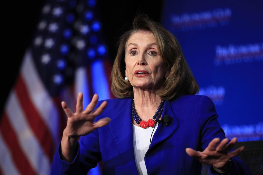 In this Friday, March 8, 2019, file photo, House Speaker Nancy Pelosi of Calif., speaks in Washington. (AP Photo/Manuel Balce Ceneta, File)