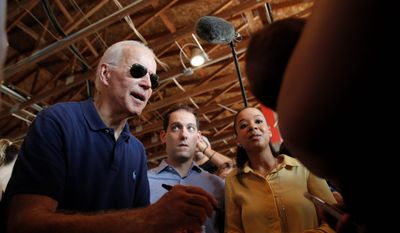 Former Vice President Joseph R. Biden is ahead of his closest rivals for the Democratic nomination. Unfortunately, his speeches are filled with gaffes. (Associated Press)