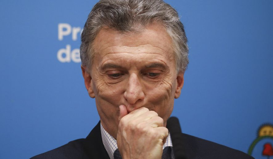 "Argentine President Mauricio Macri failed to deliver on his promise of low inflation and ""zero poverty,"" and voters turned on him fiercely at the ballot box Sunday. (Associated Press)"