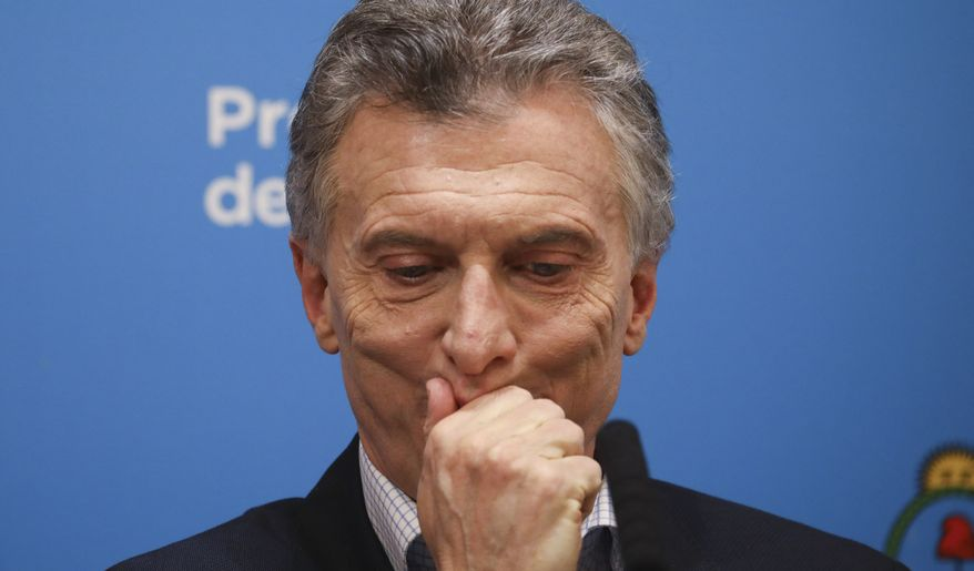 """Argentine President Mauricio Macri failed to deliver on his promise of low inflation and """"zero poverty,"""" and voters turned on him fiercely at the ballot box Sunday. (Associated Press)"""