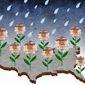 Economic Rain Illustration by Greg Groesch/The Washington Times
