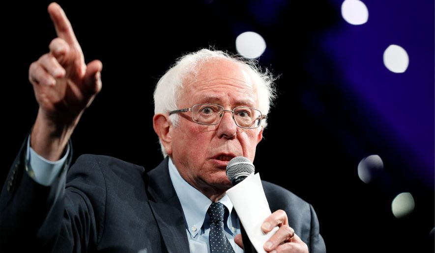 Democratic presidential candidate Sen. Bernard Sanders blasted President Trump as a white supremacist. Other Democrats have voiced similar opinions. (Associated Press)