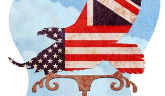 Downing Street Weathervane Illustration by Greg Groesch/The Washington Times