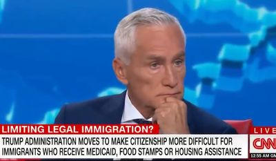 Univision anchor Jorge Ramos discusses the Trump administration on CNN, Aug. 12, 2019. (Image: CNN screenshot) ** FILE **