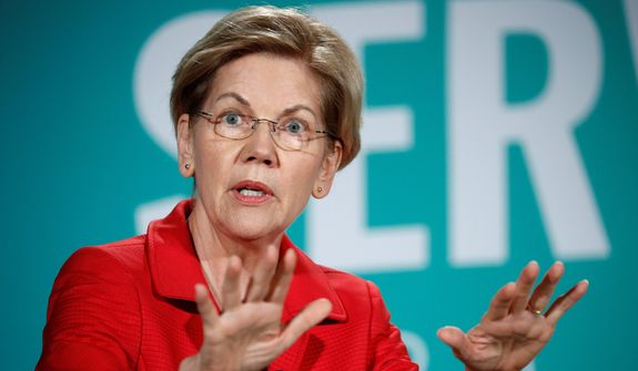 """Elizabeth Warren, who has made """"I have a plan for that"""" the catchphrase for the campaign, rolls out spending proposals on an almost weekly basis. (Associated Press/File)"""