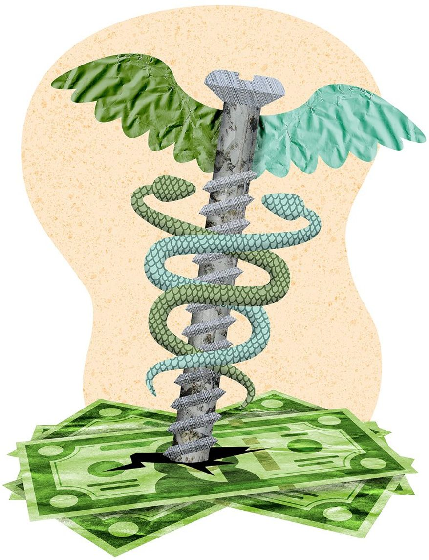 Surprise Medical Bill Illustration by Greg Groesch/The Washington Times