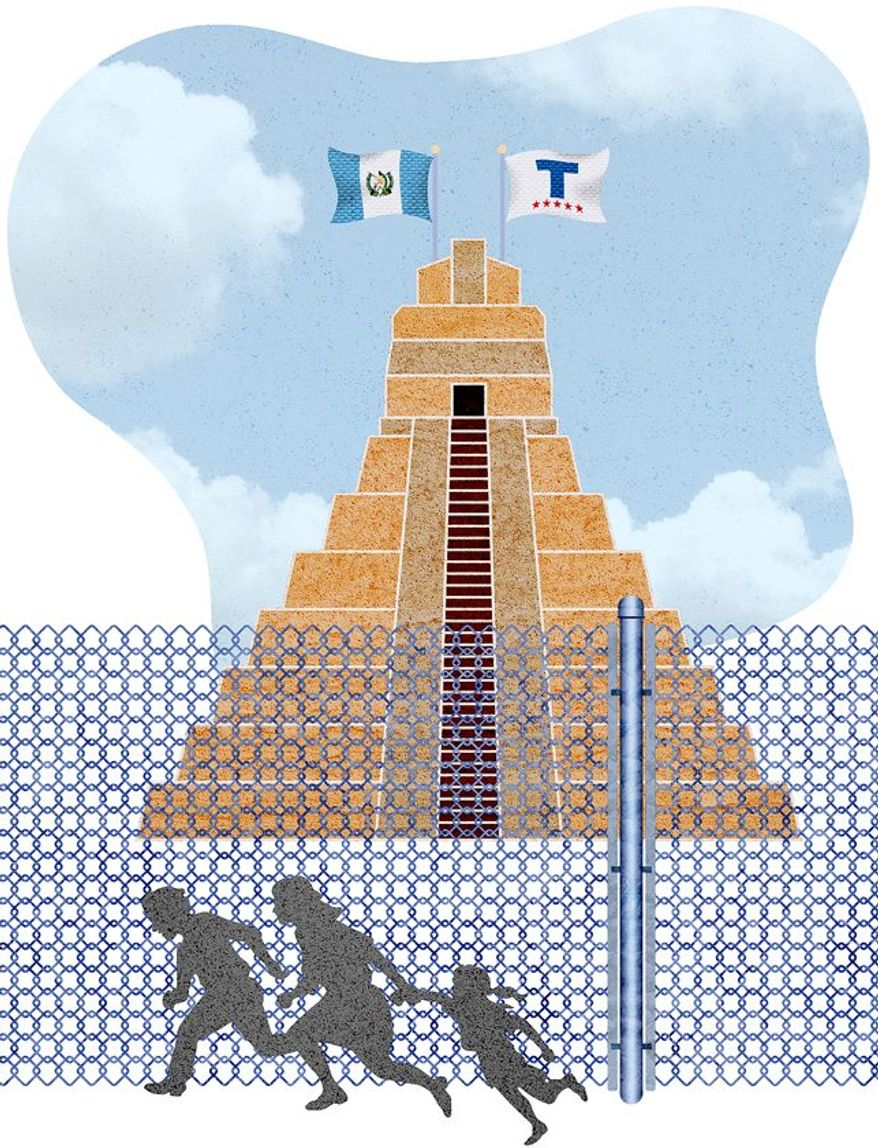 Guatemala Border Agreement Illustration by Greg Groesch/The Washington Times
