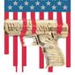 Second amendment and Constitution illustration by Linas Garsys