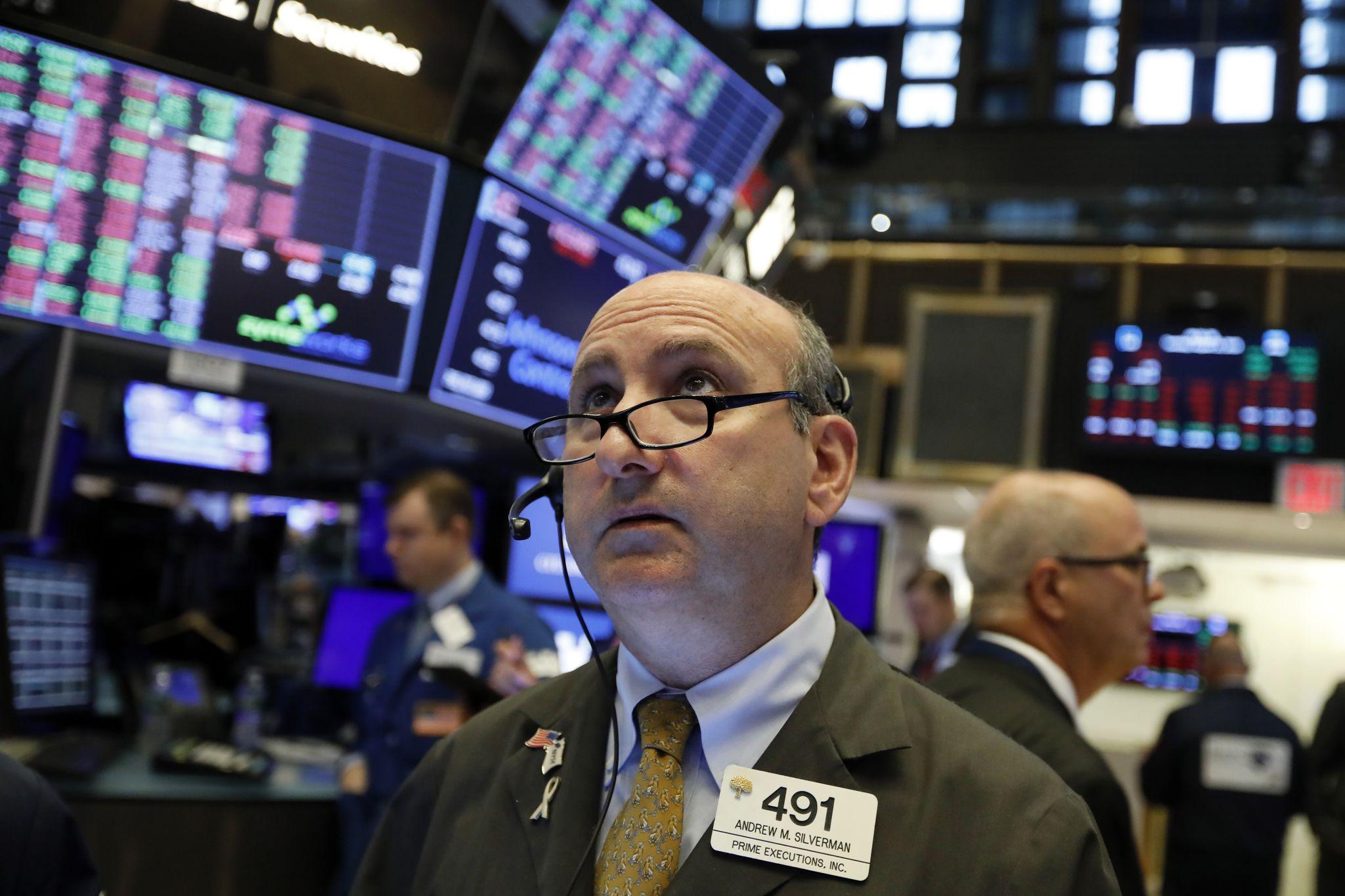 Stocks plummet on new recession fears as bond yields fall