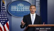 In this Aug. 12, 2019, file photo, acting Director of United States Citizenship and Immigration Services Ken Cuccinelli, speaks during a briefing at the White House, in Washington. (AP Photo/Evan Vucci, File)