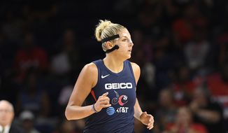 Forward Elena Delle Donne led the Washington Mystics to a bounce-back win Sunday over the New York Liberty. (File AP Photo/Nick Wass) ** FILE **