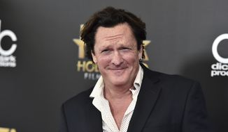 """CORRECTS TO MADSEN PLEADED NO CONTEST, INSTEAD OF PLEADED GUILTY  FILE - In this Nov. 1, 2015 file photo, Michael Madsen arrives at the Hollywood Film Awards at the Beverly Hilton Hotel in Beverly Hills, Calif. Madsen has pleaded no contest to misdemeanor drunken driving after crashing his SUV into a pole in Malibu, Calif., in March 2019. The """"Reservoir Dogs"""" actor was sentenced Thursday, Aug. 15, 2019, to four days in jail, and five years' probation. (Photo by Jordan Strauss/Invision/AP, File)"""