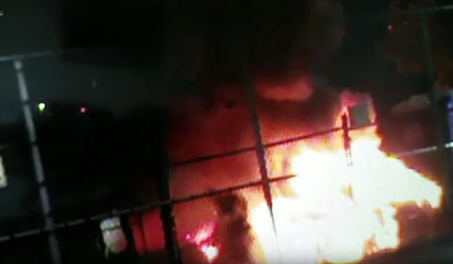 Screenshot of Tacoma ICE attack