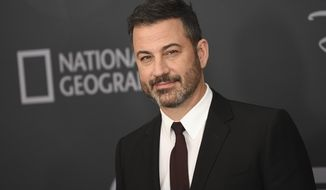 In this Tuesday, May 14, 2019, file photo, Jimmy Kimmel attends the Walt Disney Television 2019 upfront at Tavern on The Green in New York. (Photo by Evan Agostini/Invision/AP, File)