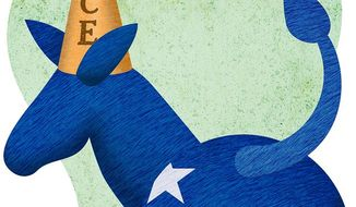 Donkey Dunce Illustration by Greg Groesch/The Washington Times