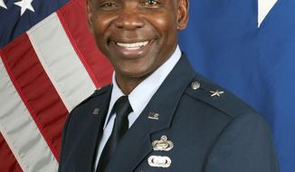 This 2017 photo provided by the Nevada Air National Guard shows Brig. Gen. Ondra Berry, who will become the first African American to lead the organization in its 154-year history. Gov. Stevel Sisolak announced the appointment of the former Reno assistant police chief and casino executive as the new adjutant general of the Nevada Air Guard on Monday, Aug. 19, 2019, effective Sept. 1. (AP Photo/Nevada Air National Guard)