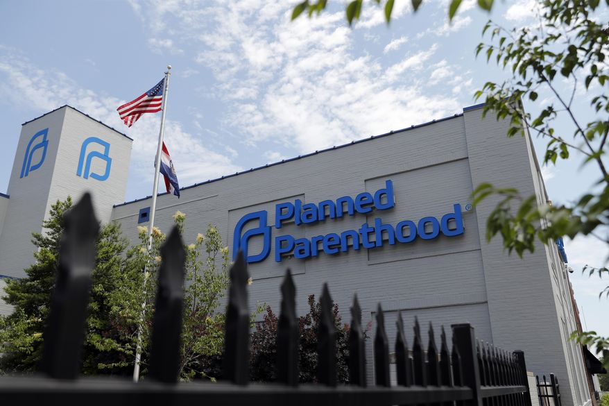 In this June 4, 2019, file photo, a Planned Parenthood clinic is photographed in St. Louis. (AP Photo/Jeff Roberson) ** FILE **