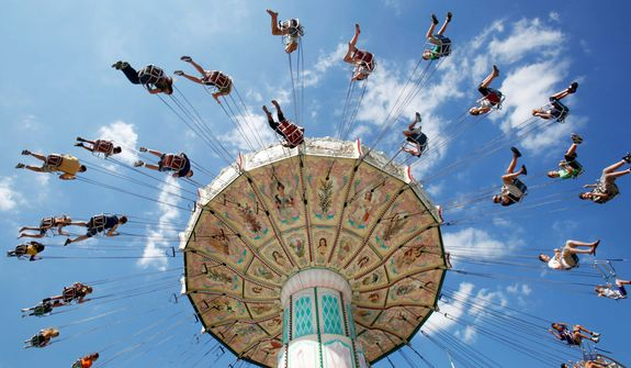 The Maryland State Fair in Timonium, Maryland, runs until Sept. 2. For the safety of fairgoers, about 60 officers and security guards will roam throughout the grounds. (Associated Press)