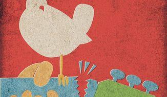 Broken Woodstock Illustration by Greg Groesch/The Washington Times