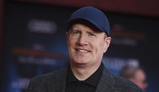"Marvel Studios President Kevin Feige arrives at the world premiere of ""Spider-Man: Far From Home"" at the TCL Chinese Theatre in Los Angeles, June 26, 2019. (Photo by Jordan Strauss/Invision/AP) ** FILE **"