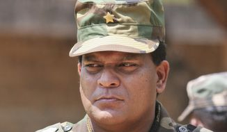 This April 24, 2009 photograph shows Sri Lanka's newly appointed army commander Lt. Gen. Shavendra Silva at a military facility in Kilinochchi, Sri Lanka. Sri Lanka's government has hit out at foreign criticism of its appointment of a general accused of war abuses as the new army commander. (AP Photo/Chamila Karunarathne)