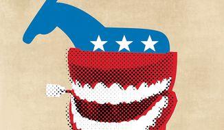 Trump jokes Illustration by Linas Garsys
