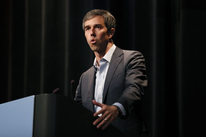 Democratic presidential candidate Beto O'Rourke speaks at the Iowa Federation of Labor convention, Wednesday, Aug. 21, 2019, in Altoona, Iowa. (AP Photo/Charlie Neibergall)