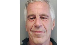 FILE - This July 25, 2013, file image provided by the Florida Department of Law Enforcement shows financier Jeffrey Epstein. The judge presiding over the federal sex trafficking charges against Epstein has invited his accusers and their lawyers to a hearing  where he'll consider prosecutors' request to dismiss the indictment. U.S. District Judge Richard Berman said Wednesday, Aug. 21, 2019  he'll conduct a brief hearing Tuesday to consider the dismissal since the financier killed himself in his prison cell Aug. 10. (Florida Department of Law Enforcement via AP, File)