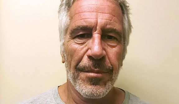 This March 28, 2017, file photo, provided by the New York State Sex Offender Registry, shows Jeffrey Epstein. The will that Epstein signed just two days before his jailhouse suicide on Aug. 10, 2019, puts more than $577 million in assets in a trust fund that could make it more difficult for his dozens of accusers to collect damages. (New York State Sex Offender Registry via AP, File)