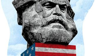 Marx Comes to America Illustration by Greg Groesch/The Washington Times