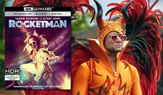 "Taron Egerton stars as Elton John in ""Rocketman,"" now available on 4K Ultra HD from Paramount Pictures Home Entertainment."