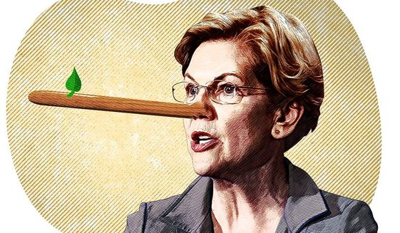 Image result for warren with pinocchio nose