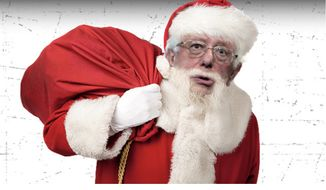 Vermont Sen. Bernie Sanders appears as Santa Claus on radio host Rush Limbaugh's website. The conservative host told viewers on Aug. 23, 2019, that 2020 presidential hopefuls in the Democratic Party count on people seeing them as a Christmas gift-giver. (Image: RushLimbaugh.com Sen. Sanders parody screenshot)