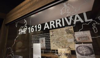 The Hampton History Museum has created an exhibit, The 1619 Arrival, that tells the stories of the first Africans who landed at Point Comfort in 1619. (L. Todd Spencer/The Virginian-Pilot via AP)