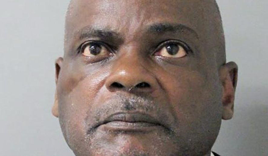 This photo provided by the Houston Police Department shows Gerald Goines in Houston. Goines, a former Houston police officer has been charged with murder in connection with the deadly January drug raid of a home that killed a couple who lived there and injured five officers, prosecutors announced Friday, Aug. 23, 2019. (Houston Police Department via AP)