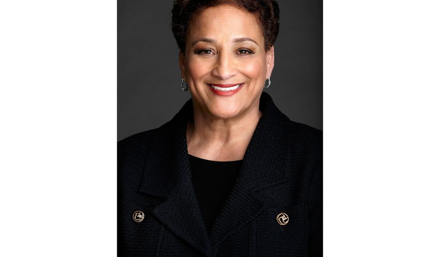 In this undated image provided by AARP, Jo Ann Jenkins, who is the CEO of AARP, poses for a photo. Jenkins joined AARP, the world's largest nonprofit, nonpartisan membership organization, in 2010 and became CEO in 2014. Previously she was chief operating officer at the Library of Congress, one of her many roles in public service. (AARP via AP)