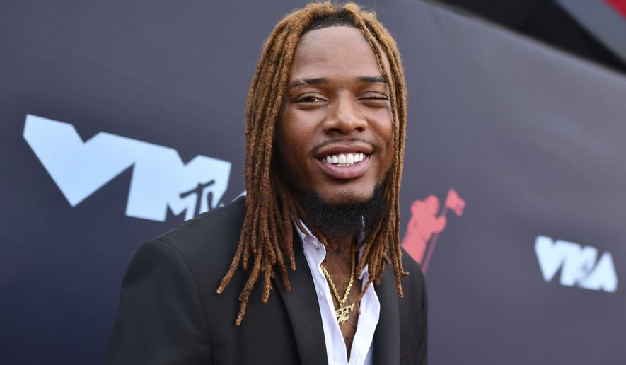 Fetty Wap arrives at the MTV Video Music Awards at the Prudential Center on Monday, Aug. 26, 2019, in Newark, N.J. (Photo by Charles Sykes/Invision/AP)