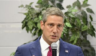Democratic presidential candidate and Ohio Rep. Tim Ryan speaks during a Paine College town hall meeting at Paine College in Augusta, Ga., Monday evening Aug. 26, 2019. (Michael Holahan/The Augusta Chronicle via AP)