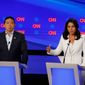Rep. Tulsi Gabbard's campaign criticized the Democratic National Committee's rules on what polls it used to determine who gets to be on stage.