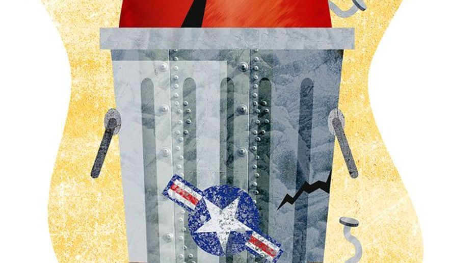 Trashy Missile Illustration by Greg Groesch/The Washington Times