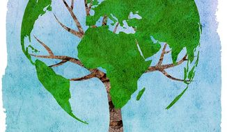 Global Tree Planting Illustration by Greg Groesch/The Washington Times