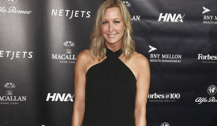 """In this Sept. 19, 2017, file photo, Lara Spencer attends the Forbes 100th Anniversary Gala at Pier Sixty in New York. Spencer has apologized for throwing some shade on Prince George taking ballet lessons. The """"Good Morning America"""" host on Monday, Aug. 26, 2019, said she """"screwed up."""" (Photo by Andy Kropa/Invision/AP, File)"""