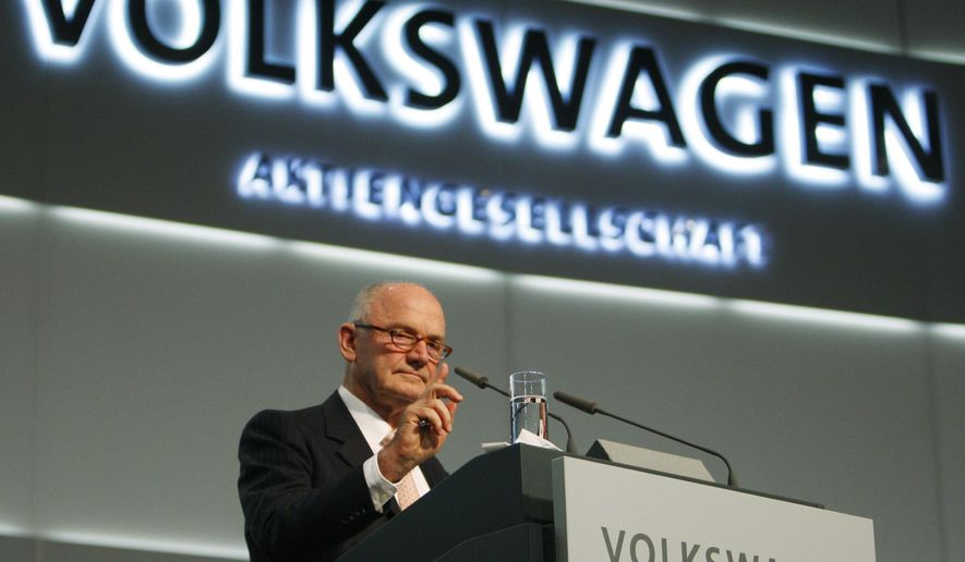 FILE - In a Thursday, Dec. 3, 2009 file photo, Ferdinand Piech, the chairman of the supervisory of the board of VW, delivers his speech during the Volkswagen extraordinary general meeting in Hamburg, northern Germany. Piech has died,  according to German media reports Monday, August 26, 2019. He was 82. (AP Photo/Heribert Proepper, File)