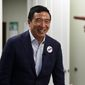 Democratic presidential hopeful and former technology executive Andrew Yang smiles during a campaign stop at the Black Chamber of Commerce on Thursday, Aug. 15, 2019, in Beaufort, S.C. (AP Photo/Meg Kinnard) ** FILE **
