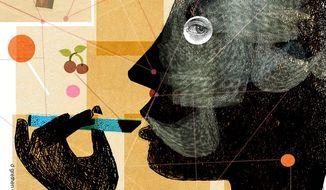 Vaping Illustration by Donna Grethen